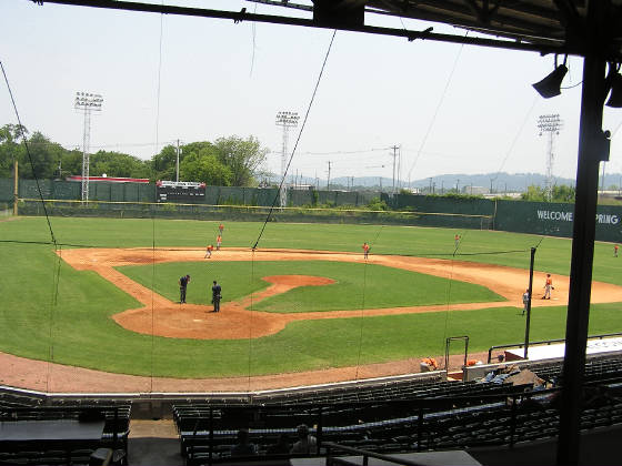 Engel Stadium - from behind Home Plate