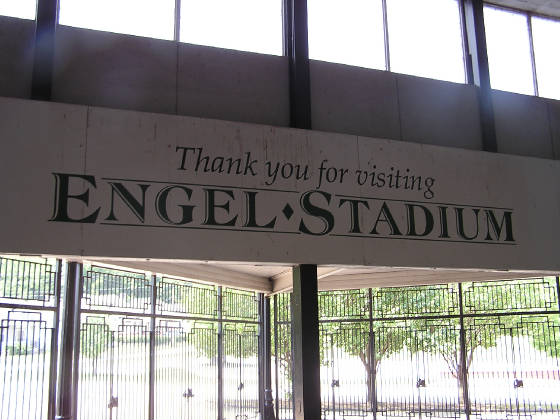 Leaveing Engel Stadium